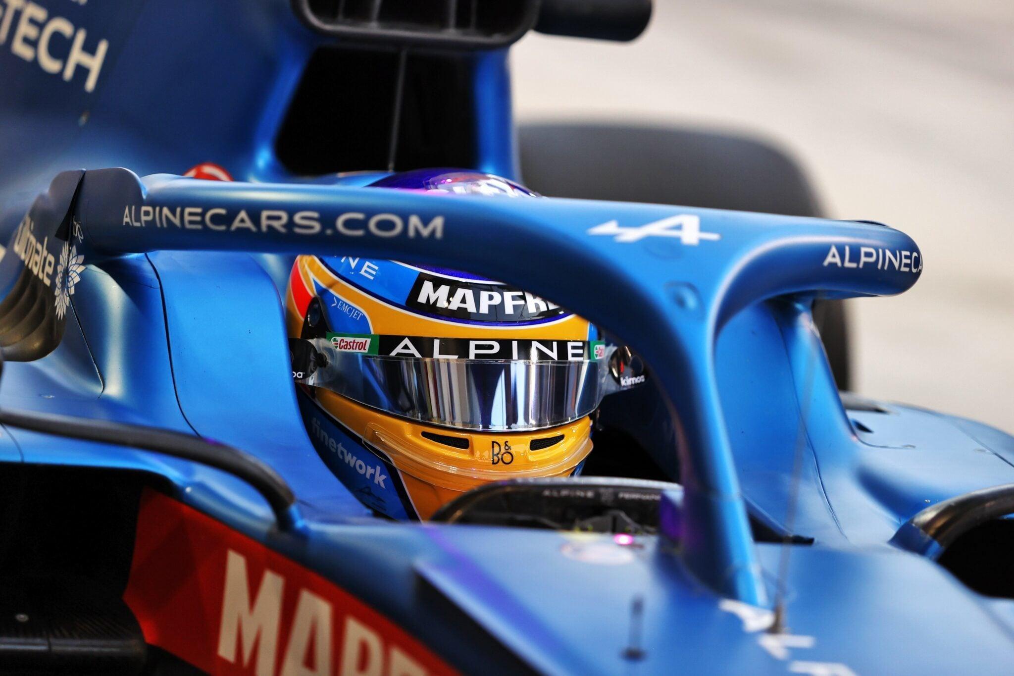 Alpine F1 Team A521 Bahrein test 2 Fernando Alonso 4   Alonso poursuit les essais à Bahreïn pour Alpine F1 Team