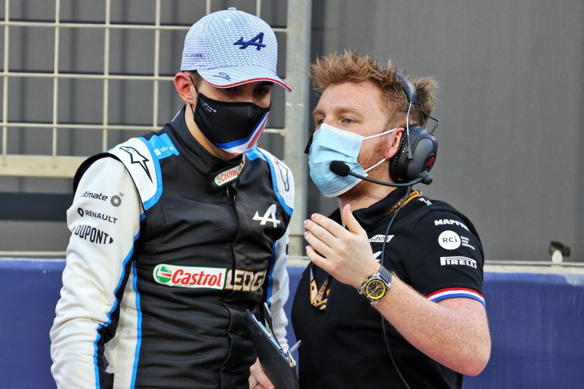 Alpine F1 Team Esteban Ocon A521 Bahrein Sakhir 2021 15   Alpine F1 Team : la 9ème et 16ème position pour Alonso et Ocon aux qualifications à Bahreïn