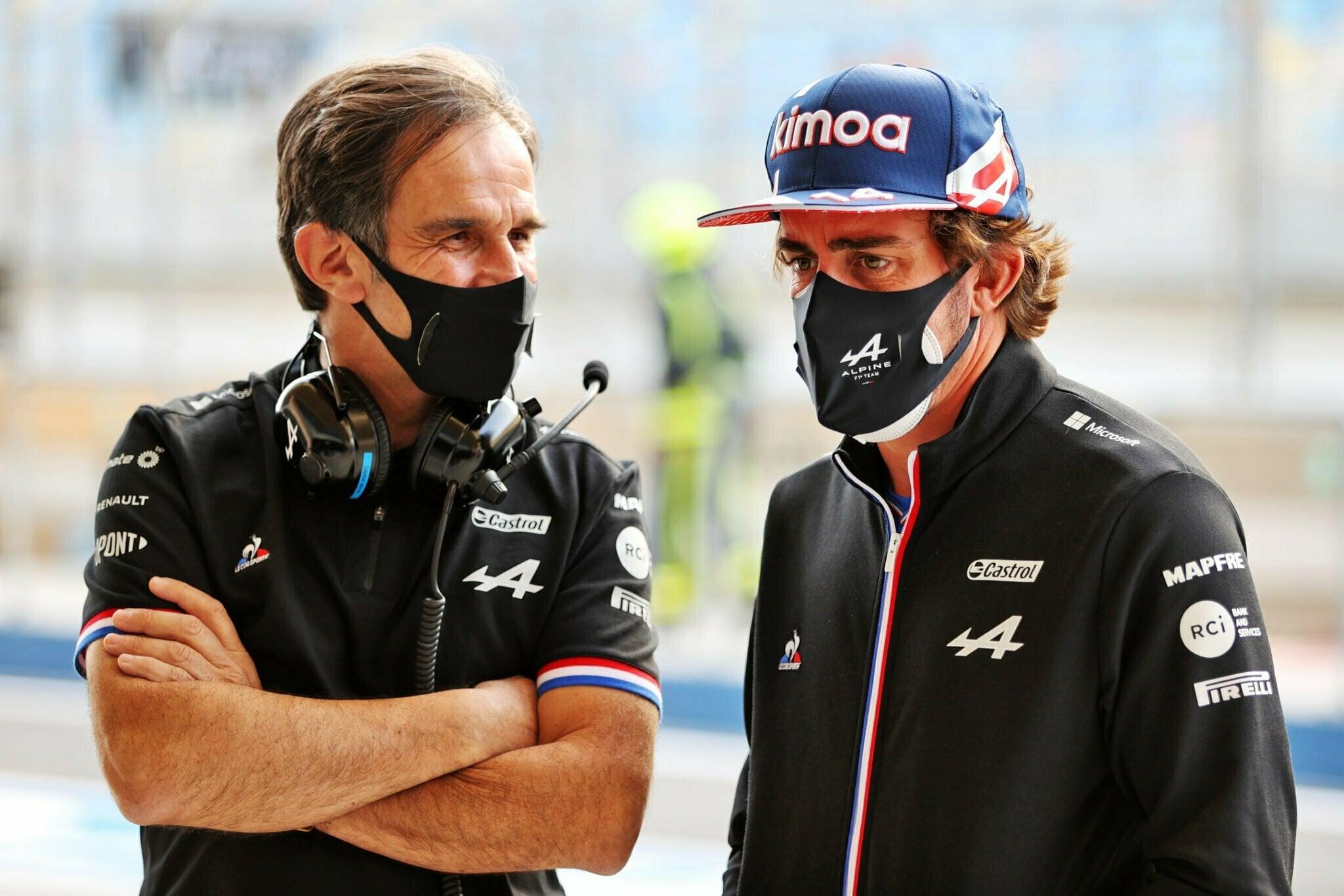 Alpine F1 Team Fernando Alonso A521 Bahrein 2021 3 | Alpine F1 Team : la 9ème et 16ème position pour Alonso et Ocon aux qualifications à Bahreïn