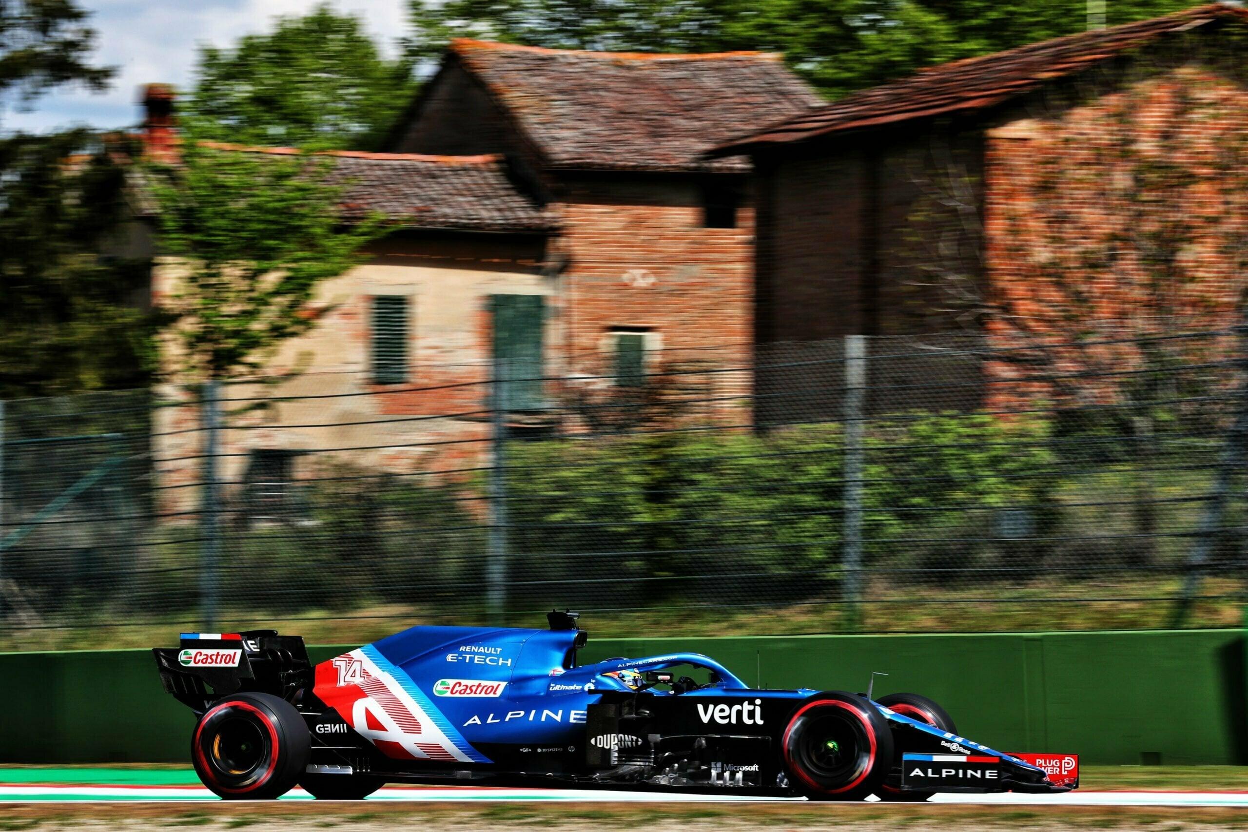 Alpine F1 Team A521 Alonso Ocon Brivio Permane Imola 2021 Test 28 scaled   Alpine F1 Team : Ocon en Q3 et Alonso en Q2 au GP d'Emilie Romagne