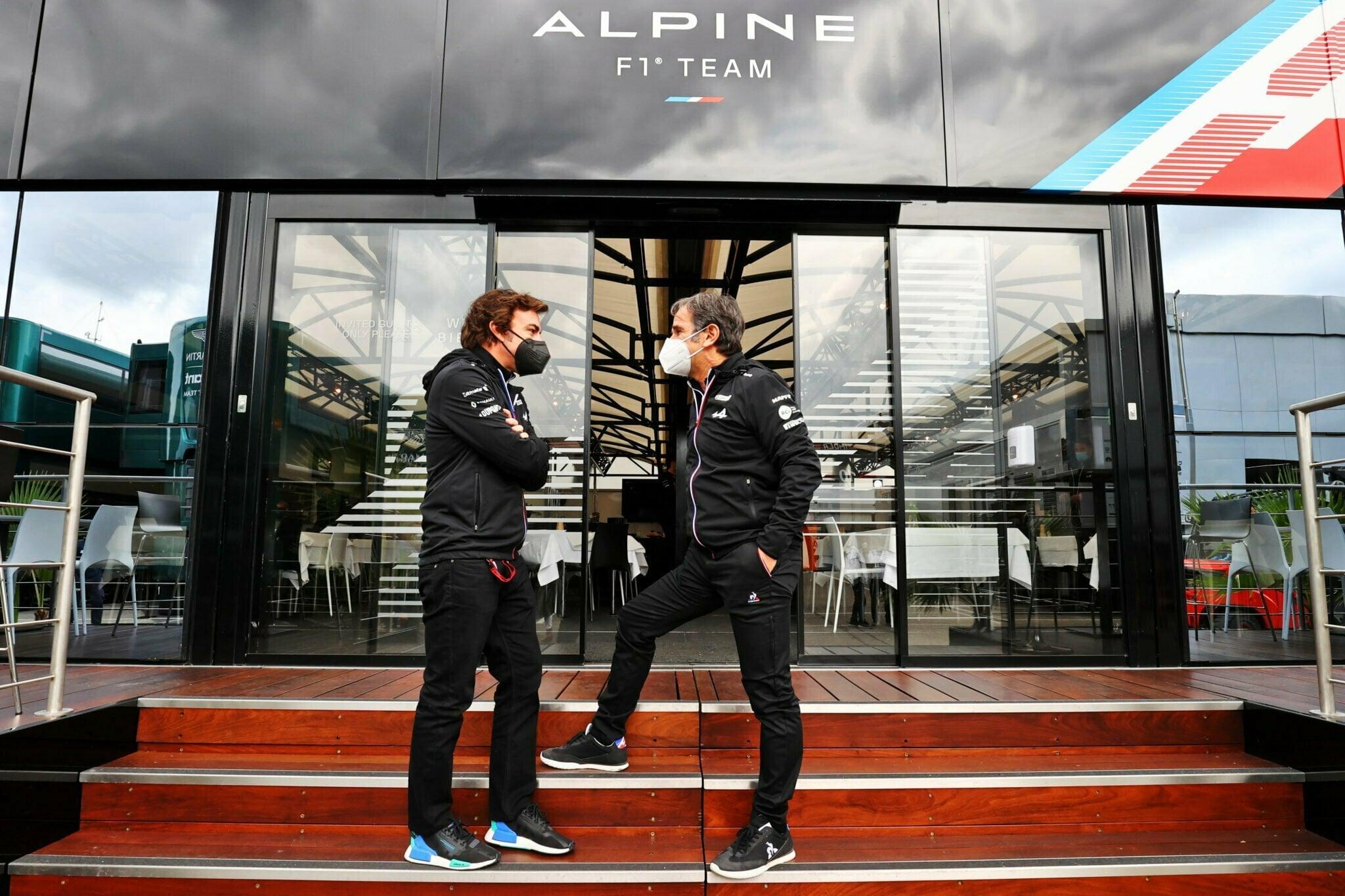 Alpine F1 Team A521 Alonso Ocon Brivio Permane Imola 2021 Test 47   Alpine F1 : Alonso réitère la Q3 et Ocon trébuche en Q1 à Spielberg