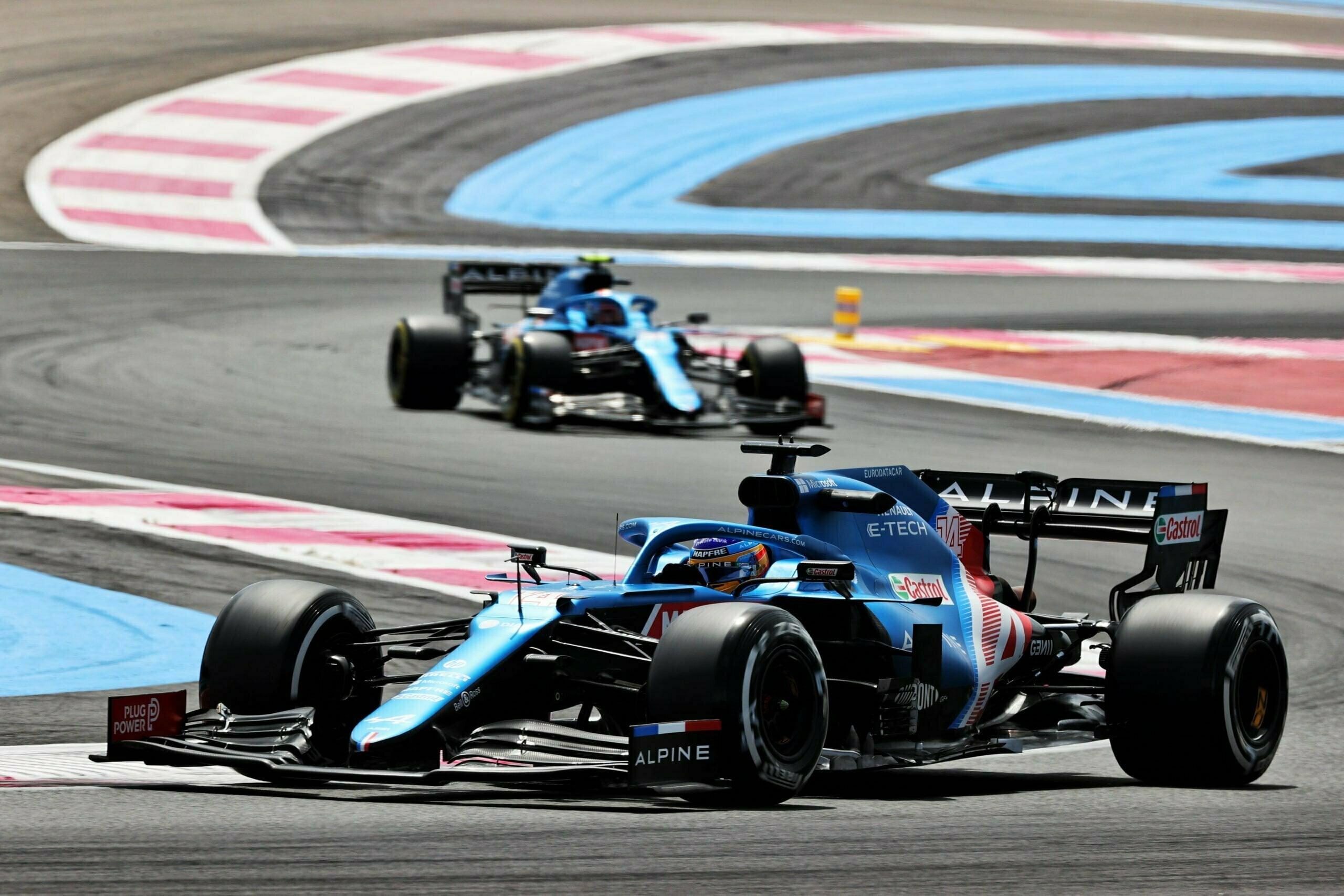 Alpine F1 Alonso Ocon A521 Castellet Paul Ricard 2021 14 scaled | Alpine F1 : des essais convaincants au Grand Prix Emirates de France