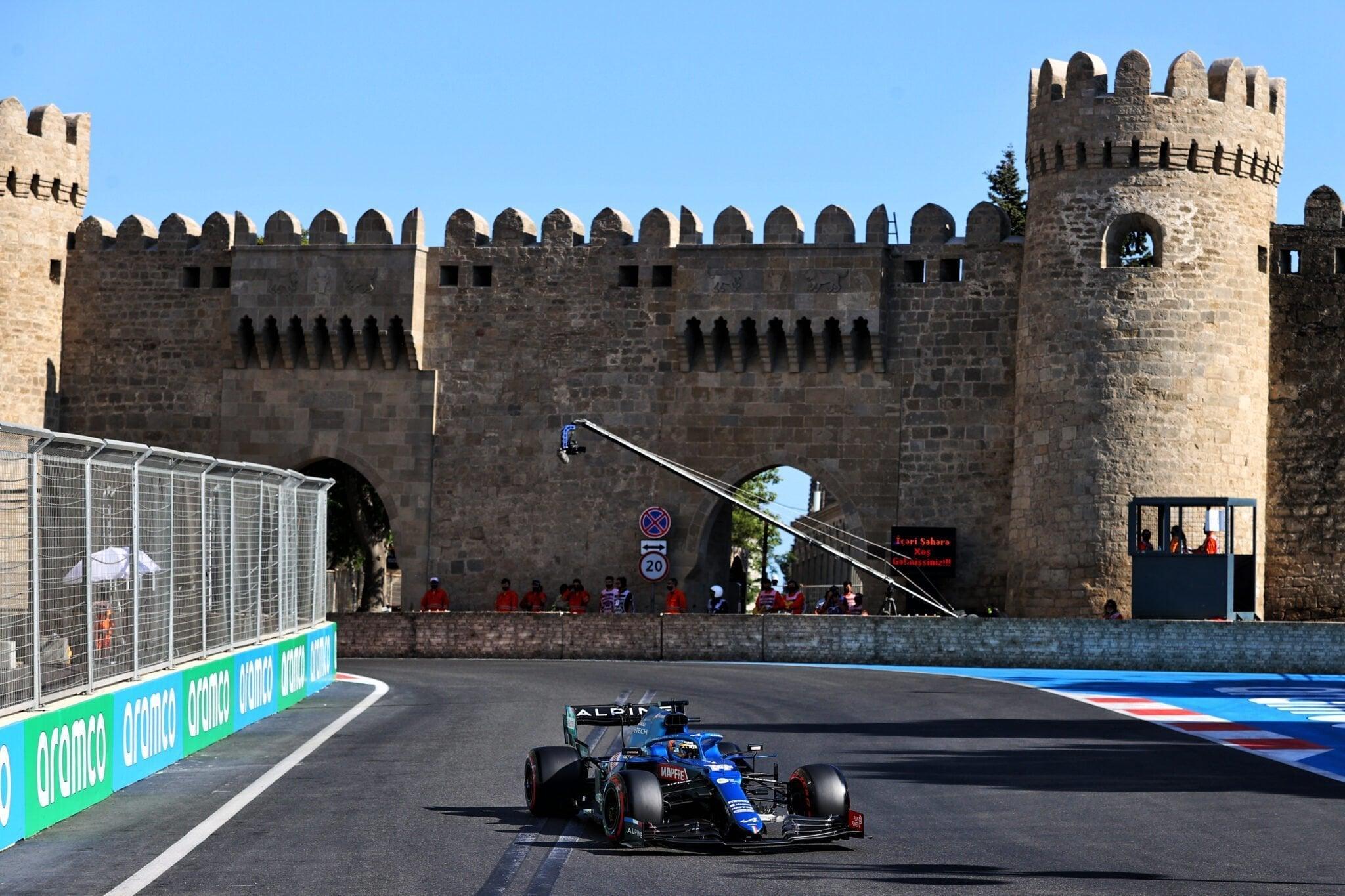 Alpine F1 Azebaijan Grand Prix Baku Alonso Ocon 2021 19   Alonso offre huit précieux points à Alpine F1 Team sur l'épreuve de Bakou
