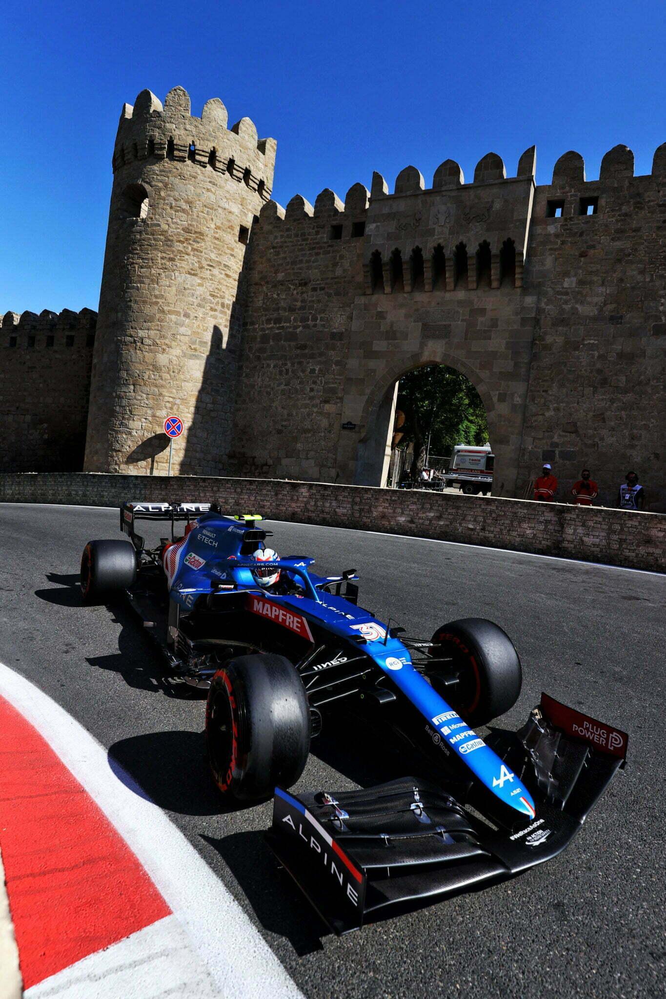 Alpine F1 Azebaijan Grand Prix Baku Alonso Ocon 2021 21   Alonso offre huit précieux points à Alpine F1 Team sur l'épreuve de Bakou