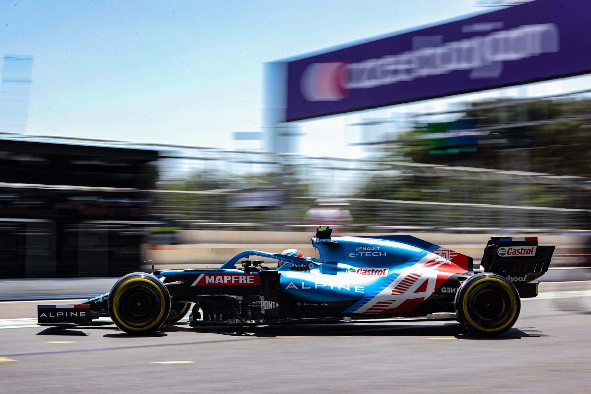 Alpine F1 Azebaijan Grand Prix Baku Alonso Ocon 2021 25   Alonso offre huit précieux points à Alpine F1 Team sur l'épreuve de Bakou