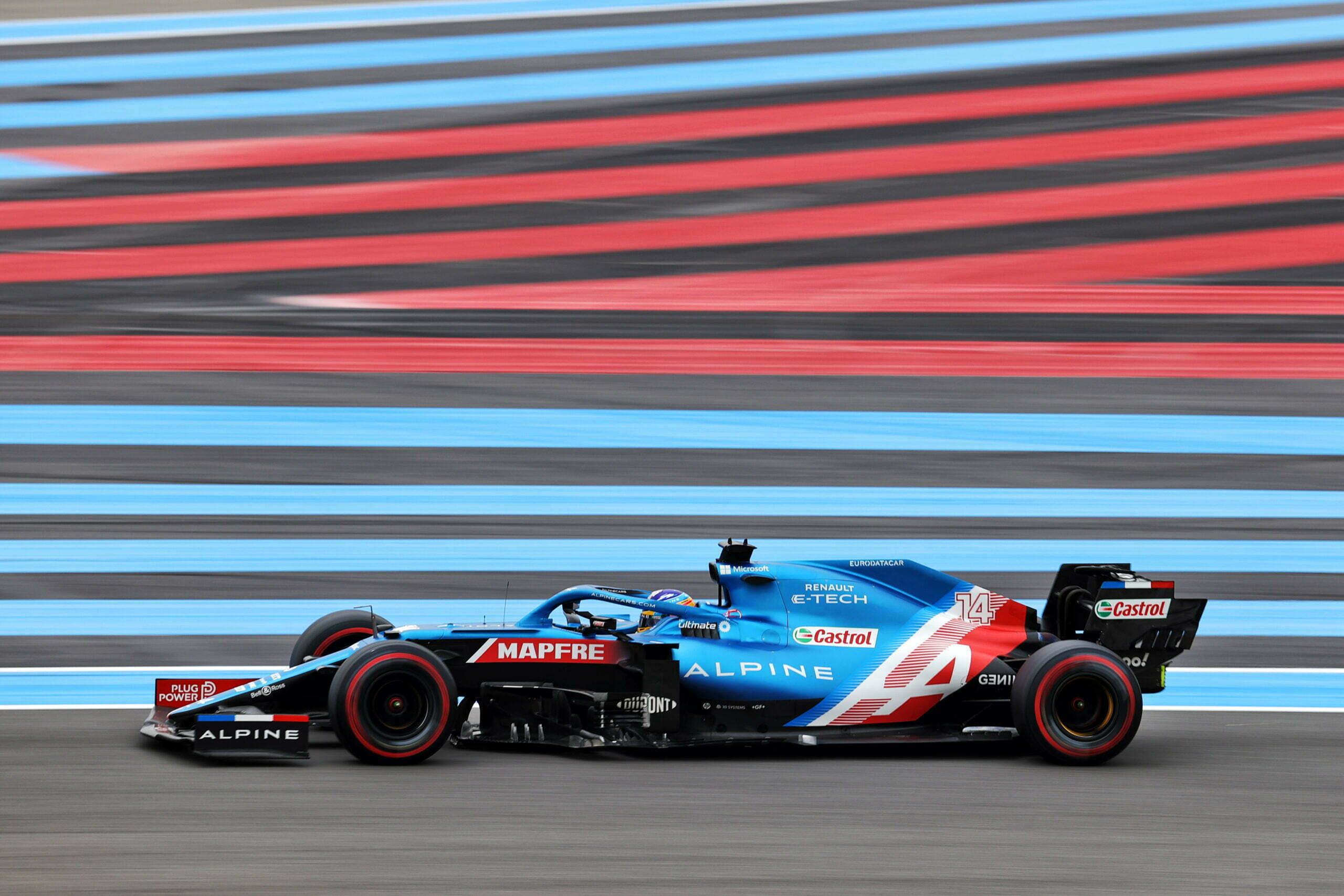 Alpine F1 Team A521 Alonso Ocon Castellet GP FRance 2021 2 scaled   Alpine F1 : Alonso entre en Q3, Ocon bloque en Q2 au Grand-Prix de France