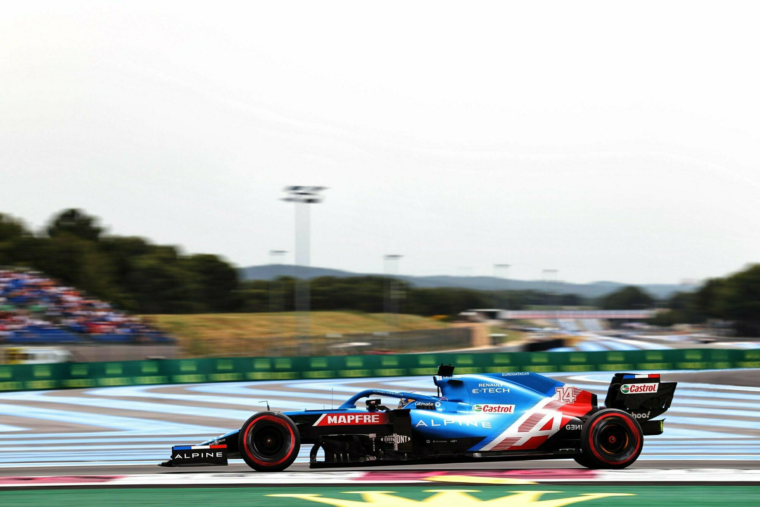 Alpine F1 Team A521 Alonso Ocon Castellet GP FRance 2021 7 scaled   Alpine F1 : Alonso entre en Q3, Ocon bloque en Q2 au Grand-Prix de France