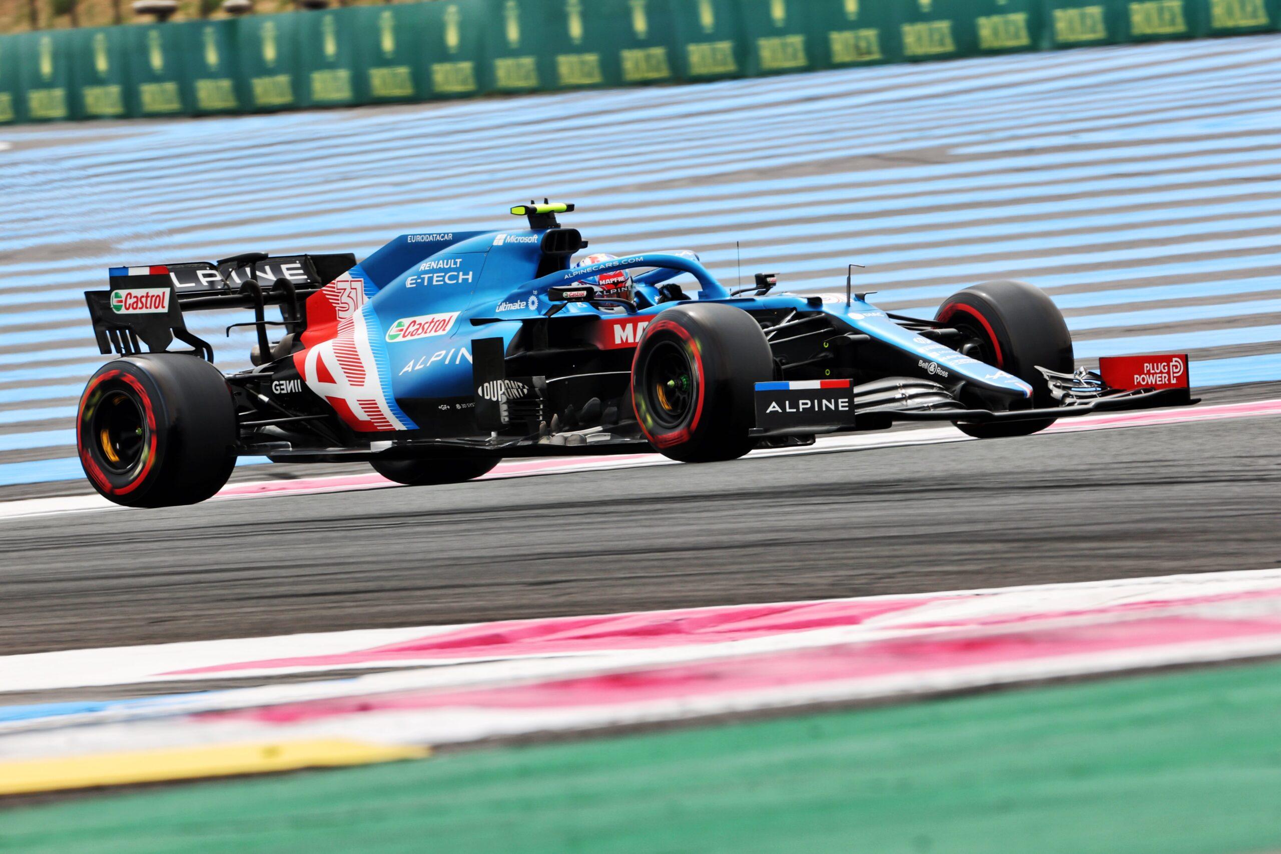 Alpine F1 Team A521 Alonso Ocon Castellet GP FRance 2021 8 scaled   Alpine F1 : Alonso entre en Q3, Ocon bloque en Q2 au Grand-Prix de France