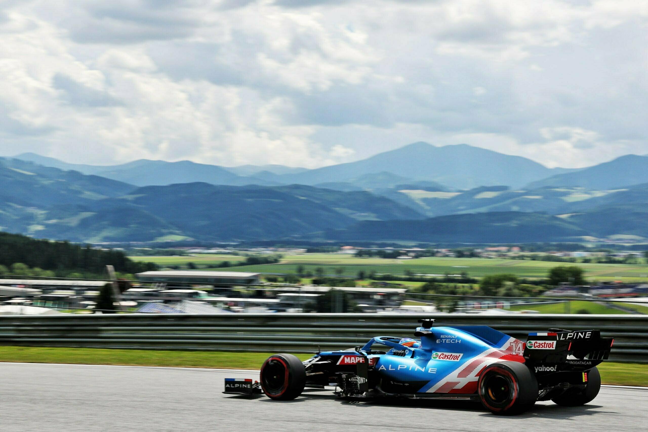 Alpine F1 Team Alonso Ocon Autriche Steiermark Grand Prix Spielberg A521 2021 17 scaled   Alpine F1 : Alonso réitère la Q3 et Ocon trébuche en Q1 à Spielberg