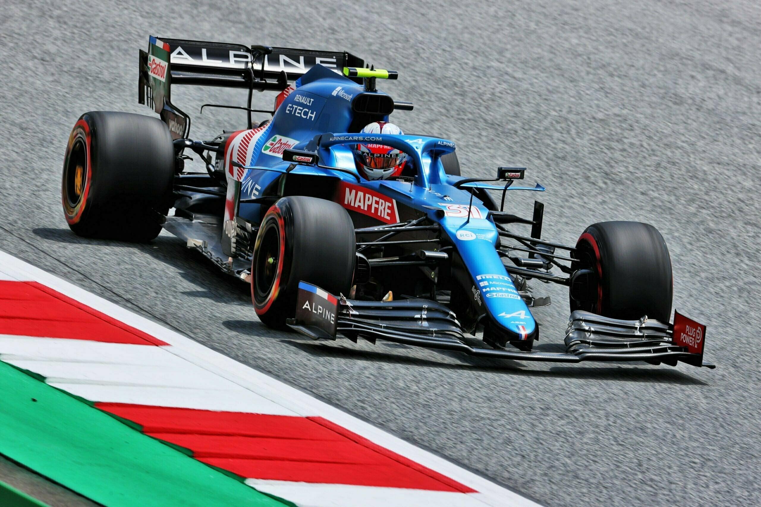 Alpine F1 Team Alonso Ocon Autriche Steiermark Grand Prix Spielberg A521 2021 20 scaled   Alpine F1 : Alonso réitère la Q3 et Ocon trébuche en Q1 à Spielberg