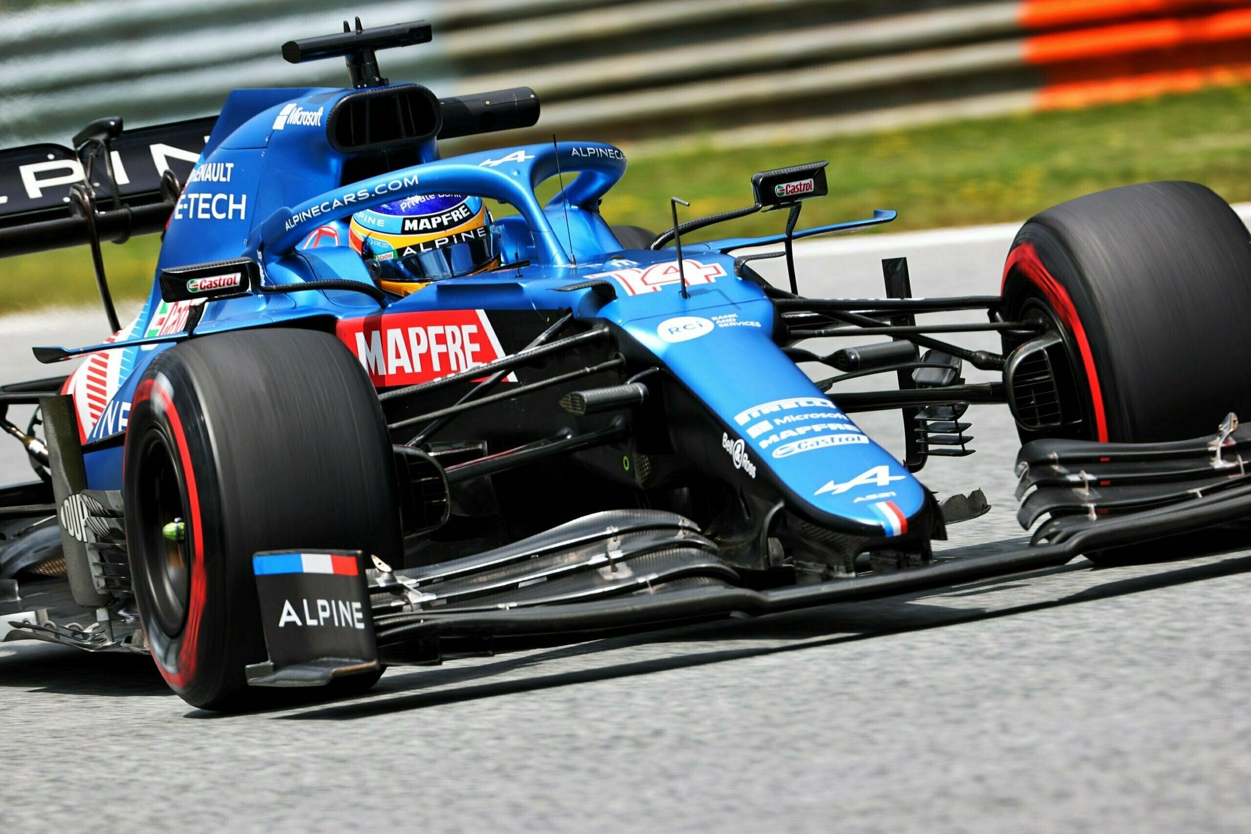 Alpine F1 Team Alonso Ocon Autriche Steiermark Grand Prix Spielberg A521 2021 21 scaled   Alpine F1 : Alonso réitère la Q3 et Ocon trébuche en Q1 à Spielberg