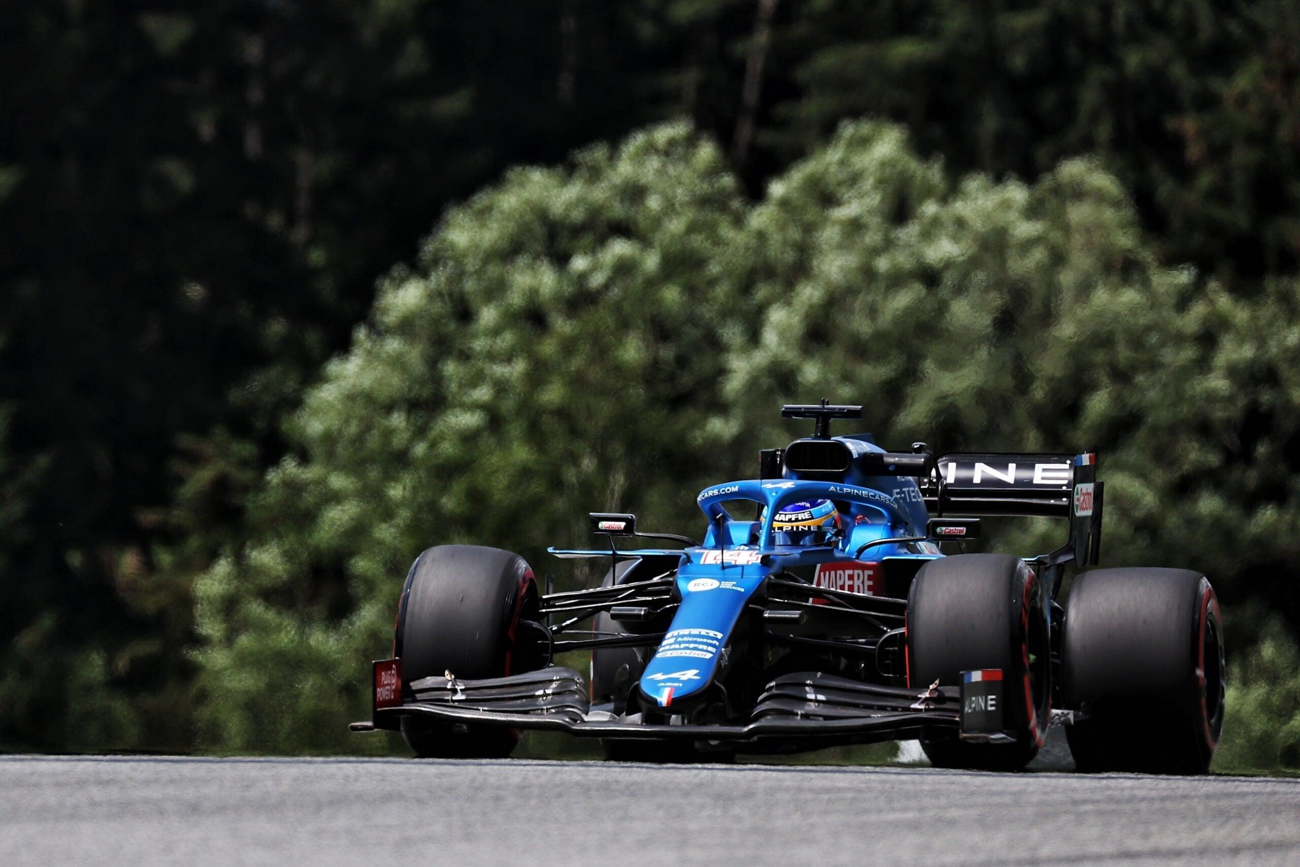 Alpine F1 Team Alonso Ocon Autriche Steiermark Grand Prix Spielberg A521 2021 30 scaled   Alpine F1 : Alonso réitère la Q3 et Ocon trébuche en Q1 à Spielberg