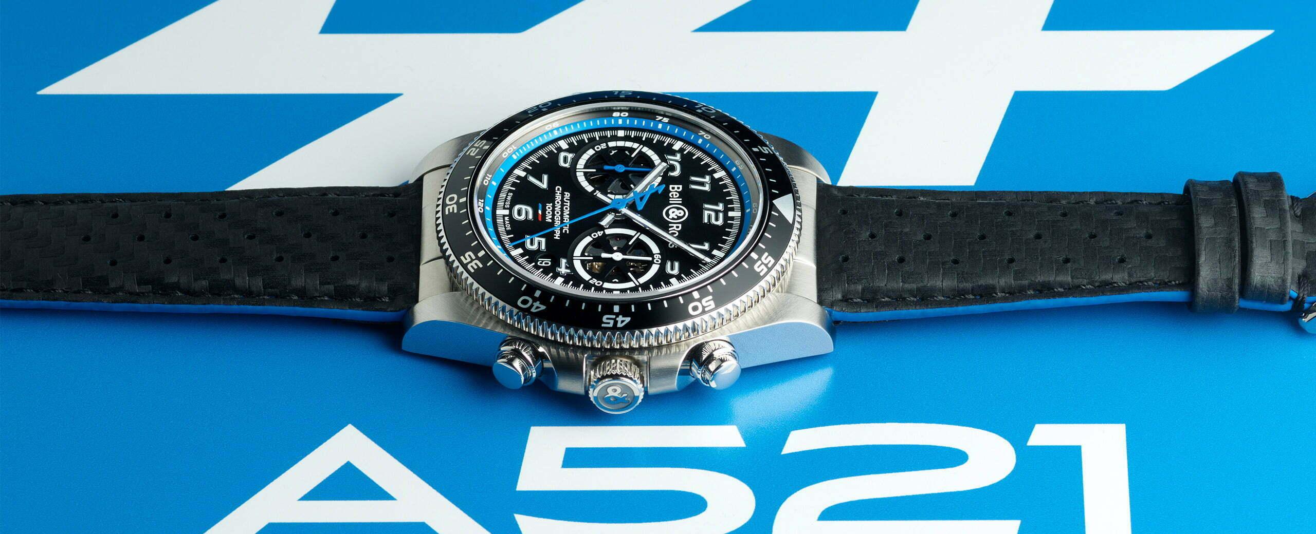 BRV394 A521 leather slider 2560x1040 1   Bell & Ross devient le nouveau partenaire horloger officiel d'Alpine 2021
